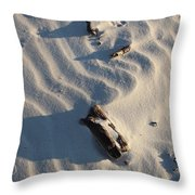A Line In The Sand Throw Pillow
