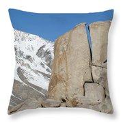 A Man Sport Climbs In Bishop Throw Pillow