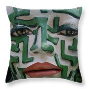 A Maze Ing Face 2 Throw Pillow