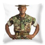 A Military Man Throw Pillow