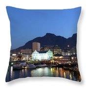A Night View Of The Victoria And Alfred Throw Pillow