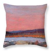 A Northern Lake Throw Pillow