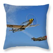 A P-51d Mustang Kimberly Kaye Throw Pillow