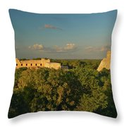 A Panoramic View From Left To Right Throw Pillow