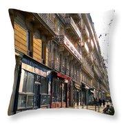 A Paris Morning Throw Pillow