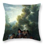 A Picnic Throw Pillow