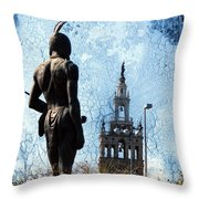 A Plaza View Throw Pillow