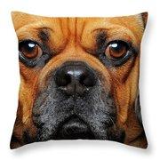 A Puggle Throw Pillow