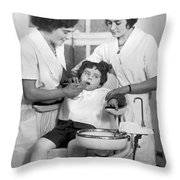 A Reluctant Patient Throw Pillow