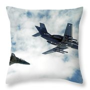 A Royal Air Force Hawk  Throw Pillow