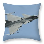 A Saab Jas 39 Gripen C Of The Royal Throw Pillow
