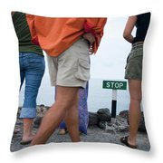 A Sign Marks The End Of The Line Throw Pillow