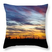 A Silhouette Sunset  Throw Pillow