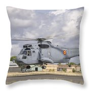 A Spanish Navy Sh-3d Helicopter Throw Pillow