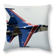 A Sukhoi Su-27 Flanker Of The Russian Throw Pillow