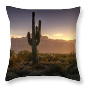 A Superstition Sunrise   Throw Pillow