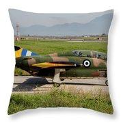 A T-2e Buckeye Trainer Aircraft Throw Pillow