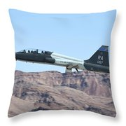 A U.s. Air Force T-38c Taking Throw Pillow