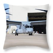 A U.s. Marine Corps Mv-22b Osprey Throw Pillow