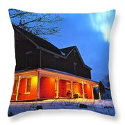 A Winters Eve Throw Pillow