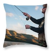 A Young Man In His Early Thirties  Fly Throw Pillow