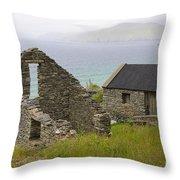 Abandoned Stone House, Slea Head Throw Pillow