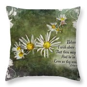 Above All Things Throw Pillow