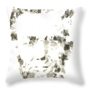 Abraham Lincoln Paint Drops Throw Pillow