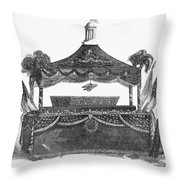 Abraham Lincoln's Funeral Throw Pillow