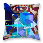 Abstract Art Stained Glass Throw Pillow by Mountain Dreams