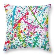 Abstract Color Splash Throw Pillow