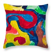 Abstract Colorful Painting Throw Pillow