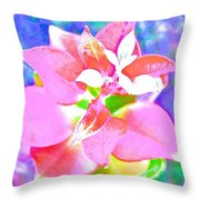 Abstract Colorful Plant Throw Pillow