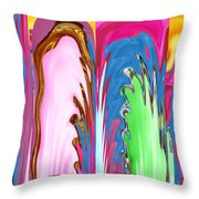 Abstract Emotional Stages  Confusion Disbelief Grief Anger Walkaway Throw Pillow