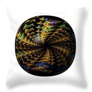 Abstract Globe Throw Pillow
