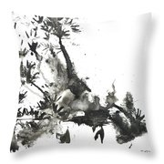 Abstract Ink Art Throw Pillow