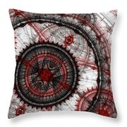 Abstract Mechanical Fractal Throw Pillow
