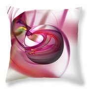 Abstract Red Globe Throw Pillow