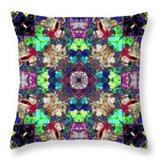 Abstract Symmetry Of Colors Throw Pillow