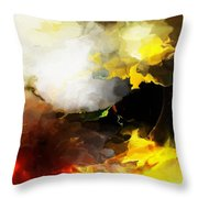 Abstract Under Glass Throw Pillow