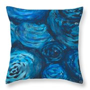Abstract Watercolour Painting Throw Pillow
