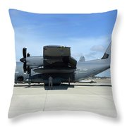 Ac-130j Ghostrider At Hurlburt Field Throw Pillow