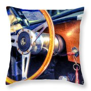 Ac Shelby Cobra Oil Painting Throw Pillow