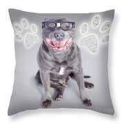 Access To Smart Dog Training Throw Pillow