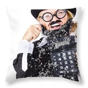 Accountant Crying Number Tears Throw Pillow