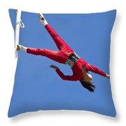 Acrobatic Performance Throw Pillow