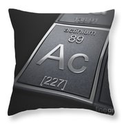 Actinium Chemical Element Throw Pillow