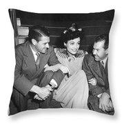 Actress Joan Crawford Throw Pillow