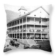 Adirondack Hotel, 1889 Throw Pillow