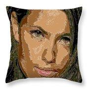 Adriana Lima Supermodel Throw Pillow